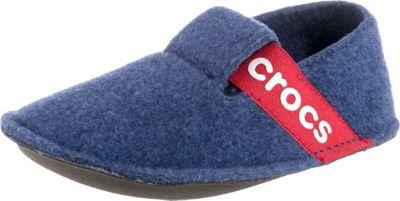 crocs, Kinder Hausschuhe Classic Slipper, blau