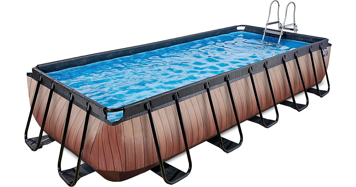EXIT · Frame Pool 5,4x2,5x1m Premium, Holz Optik