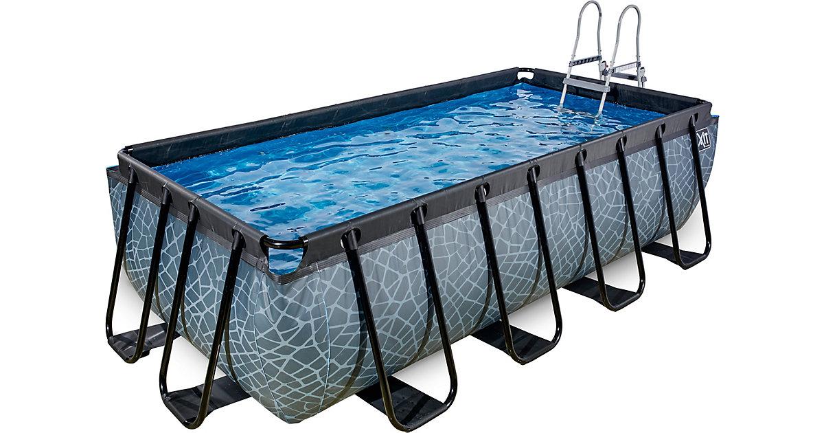 EXIT · Frame Pool 4x2x1m Premium, grau