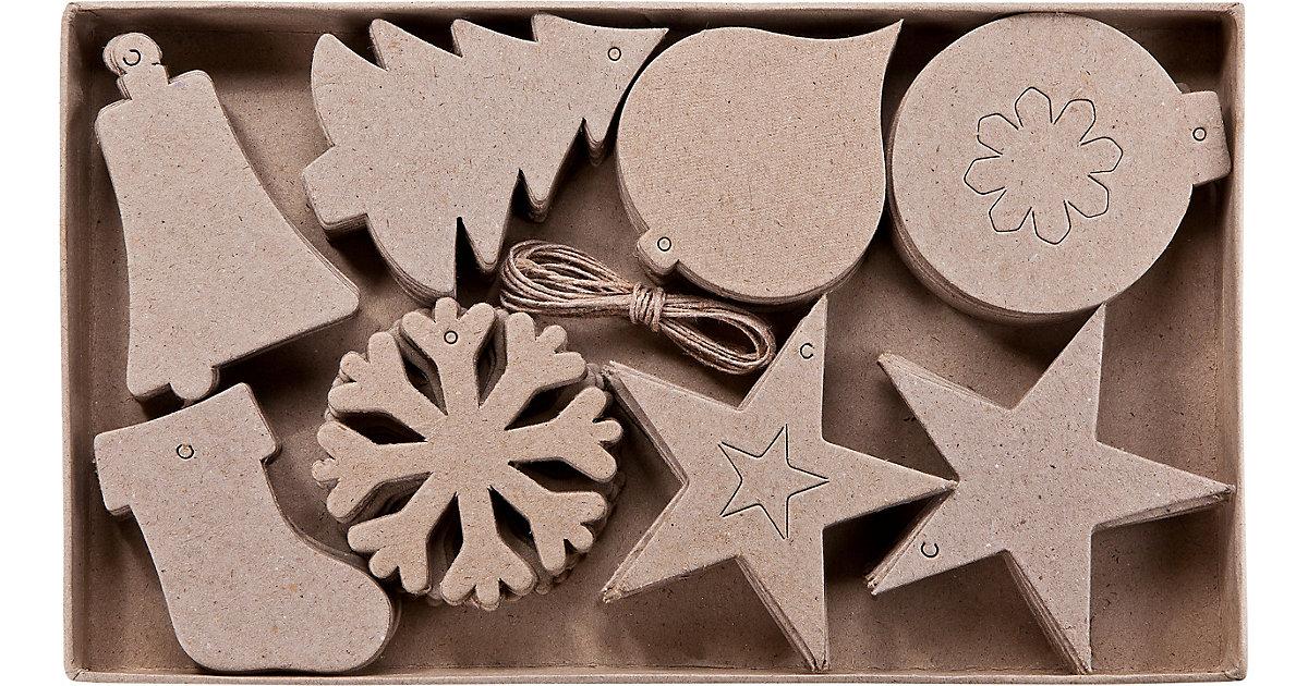 Paper Art 2D-Figuren Weihnachten, 80 Stück, 8 verschiedene Designs