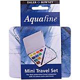 """Дорожный набор акварельных красок Daler Rowney """"Aquafine"""", 12 предметов"""