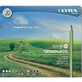 """Цветные карандаши Lyra """"Graduate"""", 24 цвета"""