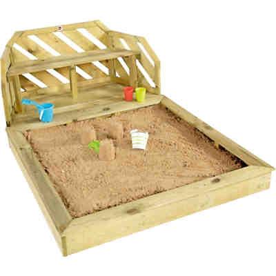 sandkasten f r kinder schatzinsel aus holz mit schutzabdeckung plum mytoys. Black Bedroom Furniture Sets. Home Design Ideas