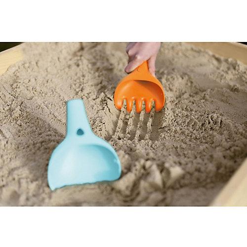 Лопатка и грабельки Quut Raki, сине-оранжевые