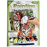 """Картина по номерам Royal&Langnickel """"Тигры"""", 22х29 см"""