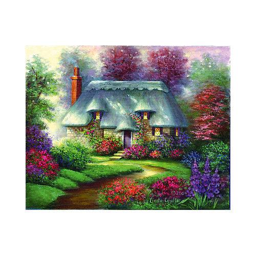 """Картина по номерам на холсте Гризайль Royal&Langnickel """"Романтический коттедж"""", 28х35 см от Royal&Langnickel"""