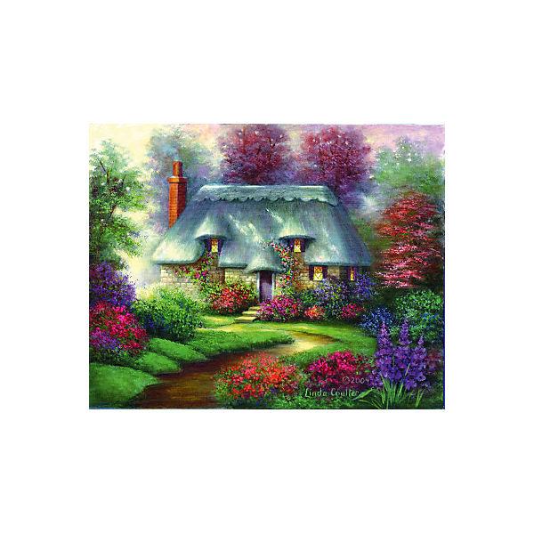 "Картина по номерам на холсте Гризайль Royal&Langnickel ""Романтический коттедж"", 28х35 см"