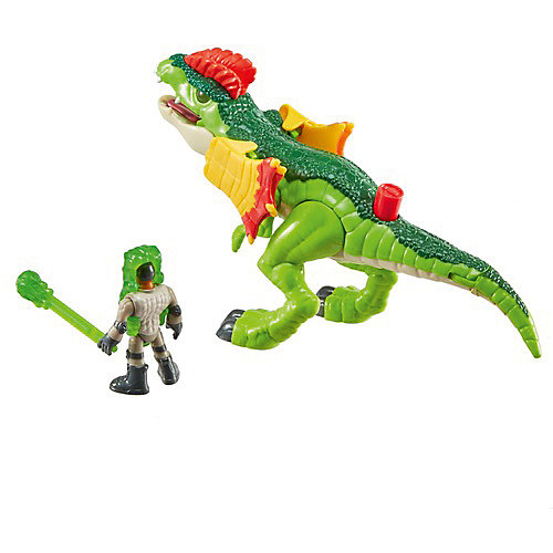 """Игровой набор Jurassic World """"Динозавры и герои"""" Дилофозавр и Агент от Mattel"""