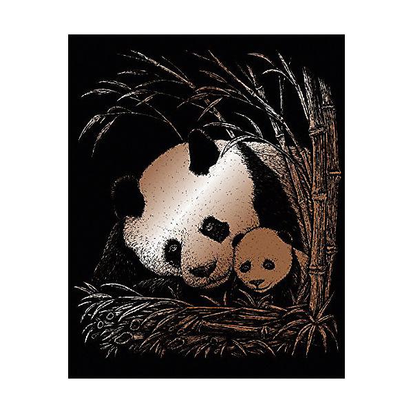 """Гравюра Royal&Langnickel """"Панда с малышом"""", медь"""