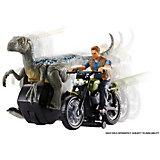 """Набор фигурок Jurassic World """"Заводные преследователи"""" Велоцираптор, синий"""
