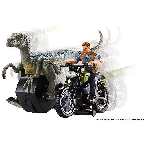 "Набор фигурок Jurassic World ""Заводные преследователи"" Оуэн Грейди на мотоцикле от Mattel"