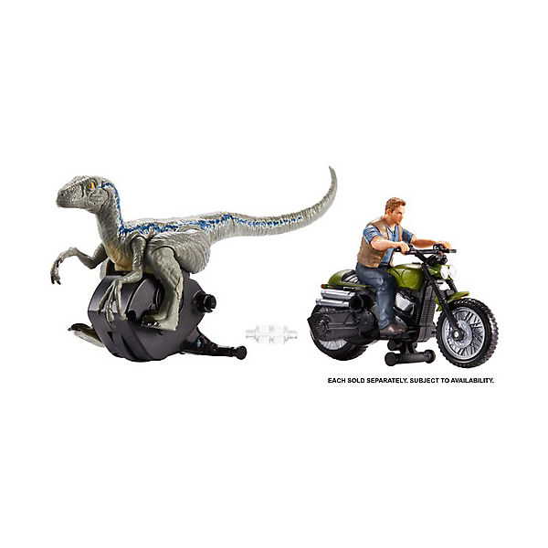 "Набор фигурок Jurassic World ""Заводные преследователи"" Оуэн Грейди на мотоцикле"