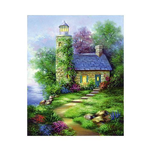 """Картина по номерам на холсте Гризайль Royal&Langnickel """"Романтический маяк"""", 28х35 см от Royal&Langnickel"""