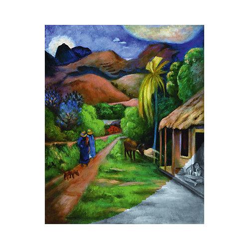 """Картина по номерам на холсте Гризайль Royal&Langnickel """"Горная дорога"""", 28х35 см от Royal&Langnickel"""