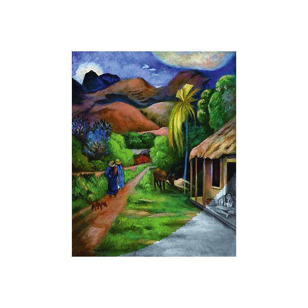 """Картина по номерам на холсте Гризайль Royal&Langnickel """"Горная дорога"""", 28х35 см"""