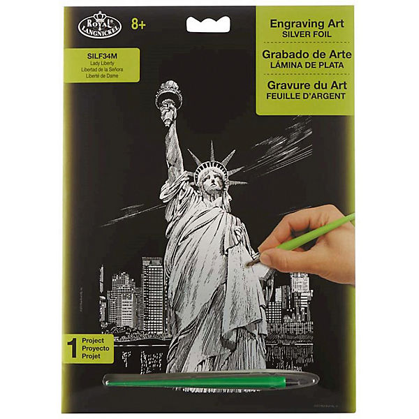 """Гравюра Royal&Langnickel """"Статуя Свободы"""", серебро"""