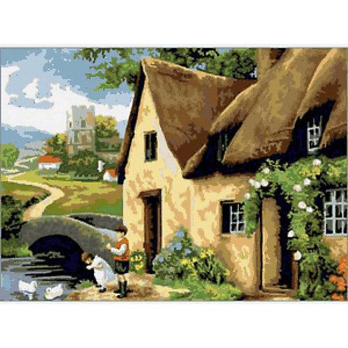 "Картина по номерам Royal&Langnickel ""Дом у реки"", 28,5х35 см от Royal&Langnickel"