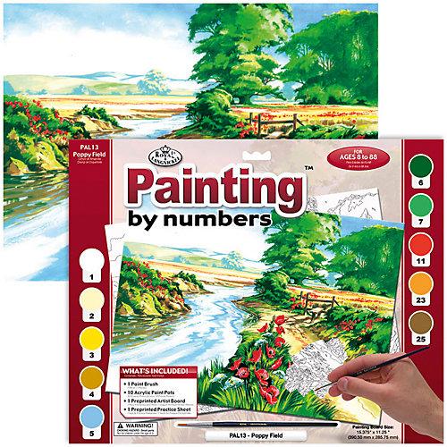 """Картина по номерам Royal&Langnickel """"Маковое поле"""", 28,5х35 см от Royal&Langnickel"""