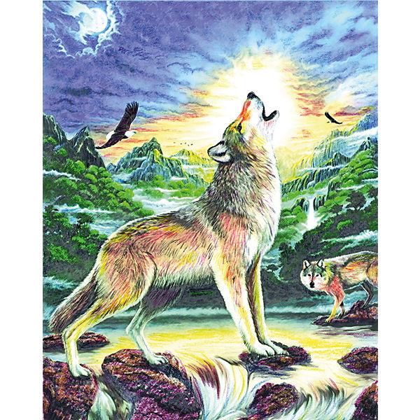 "Картина по номерам карандашами Royal&Langnickel ""Волк"", 22х29 см"