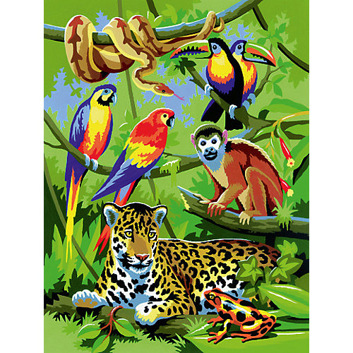 """Картина по номерам Royal&Langnickel """"В джунглях"""", 22х29 см от Royal&Langnickel"""