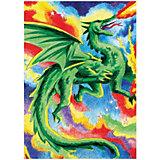 "Мини-картина по номерам карандашами Royal&Langnickel ""Дракон"", 14х20 см"