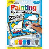 """Картина по номерам для малышей Royal&Langnickel """"Самолёт и вертолёт"""" 2 шт., 22,5х29,8 см"""