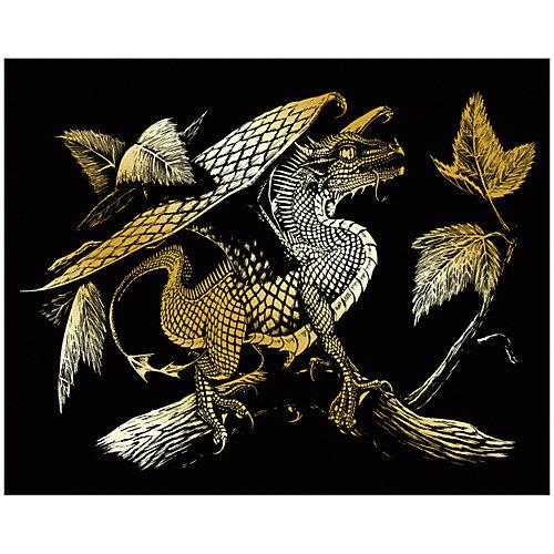 """Гравюра Royal&Langnickel """"Дракончик"""", золото от Royal&Langnickel"""