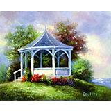 """Картина по номерам на холсте Гризайль Royal&Langnickel """"Беседка"""", 28х35 см"""