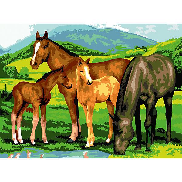 """Картина по номерам Royal&Langnickel """"Лошади"""", 28,5х35 см"""