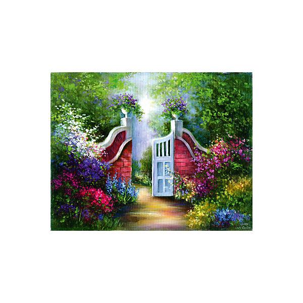"""Картина по номерам на холсте Гризайль Royal&Langnickel """"Садовые ворота"""", 28х35 см"""