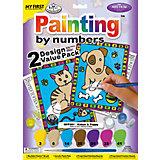 """Картина по номерам для малышей Royal&Langnickel """"Кот и пёс"""" 2 шт., 22,5х29,8 см"""