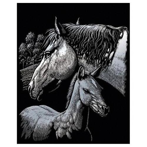 """Гравюра Royal&Langnickel """"Лошади"""", серебро от Royal&Langnickel"""