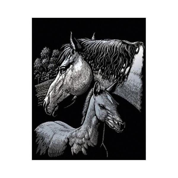 """Гравюра Royal&Langnickel """"Лошади"""", серебро"""
