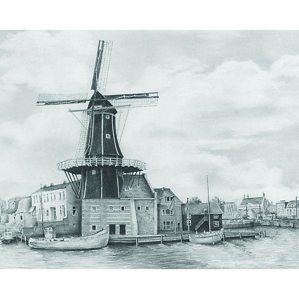 "Картина-эскиз по номерам карандашами Royal&Langnickel ""Пристань"", 22х29 см"
