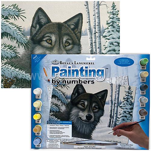 """Картина по номерам Royal&Langnickel """"Волк"""", 28,5х35 см от Royal&Langnickel"""