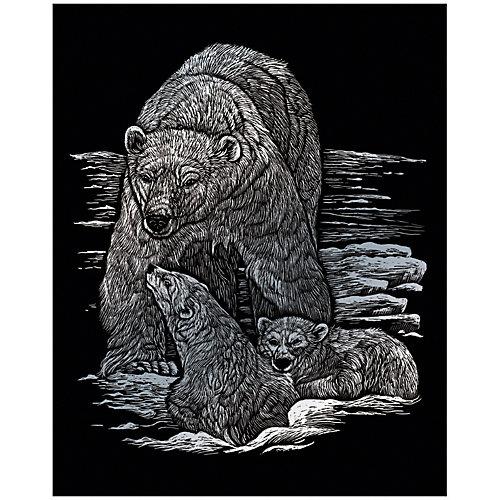 """Гравюра Royal&Langnickel """"Полярные медведи"""", серебро от Royal&Langnickel"""