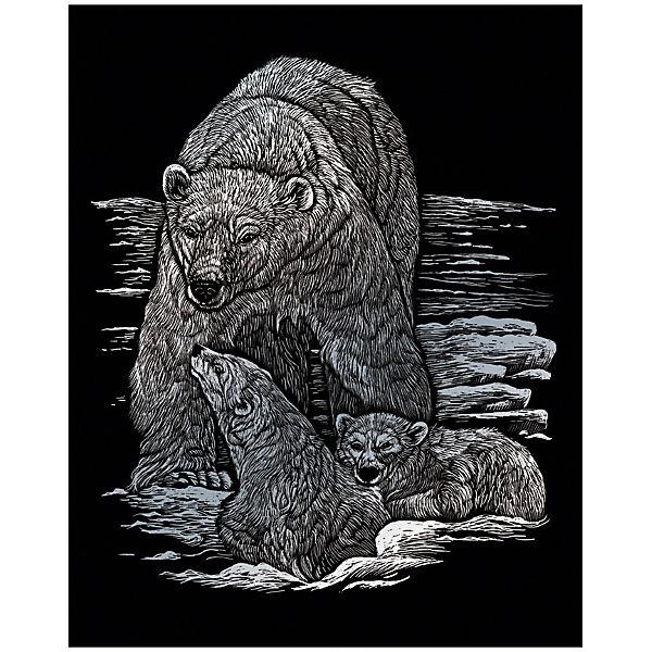 """Гравюра Royal&Langnickel """"Полярные медведи"""", серебро"""