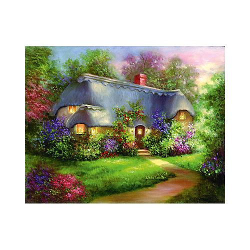 """Картина по номерам на холсте Гризайль Royal&Langnickel """"Очаровательный домик"""", 28х35 см от Royal&Langnickel"""