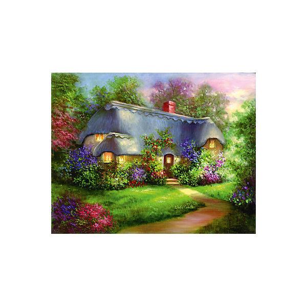 """Картина по номерам на холсте Гризайль Royal&Langnickel """"Очаровательный домик"""", 28х35 см"""
