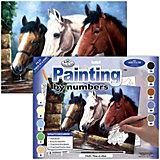 """Картина по номерам Royal&Langnickel """"Три лошади"""", 28,5х35 см"""