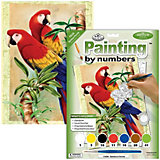 """Картина по номерам Royal&Langnickel """"Бамбуковые попугаи"""", 22х29 см"""