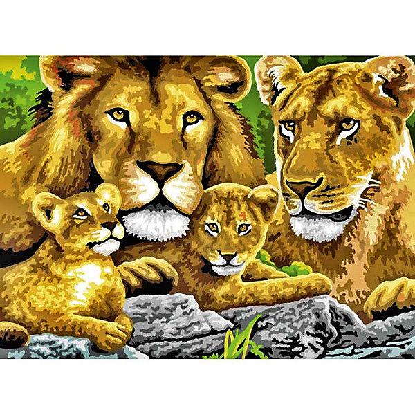 """Картина по номерам Royal&Langnickel """"Семья львов"""", 28,5х35 см"""
