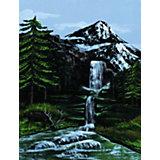 """Картина по номерам на холсте Royal&Langnickel """"Горный водопад"""", 22х30 см"""