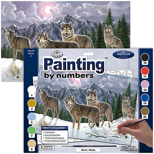 "Картина по номерам Royal&Langnickel ""Волки"", 28,5х35 см"