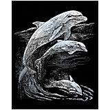 """Гравюра Royal&Langnickel """"Дельфины"""", серебро"""