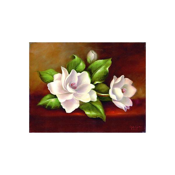 """Картина по номерам на холсте Гризайль Royal&Langnickel """"Магнолия"""", 28х35 см"""