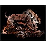 """Гравюра Royal&Langnickel """"Саблезубый тигр"""", медь"""