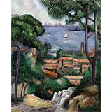 """Картина по номерам на холсте Гризайль Royal&Langnickel """"Вид на Эстак"""", 28х35 см"""