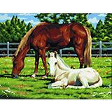 """Картина по номерам на холсте Royal&Langnickel """"Лошади"""", 28х35 см"""