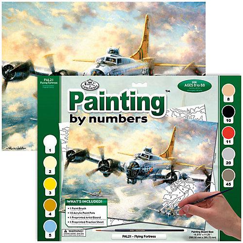 """Картина по номерам Royal&Langnickel """"Летающая крепость"""", 28,5х35 см от Royal&Langnickel"""